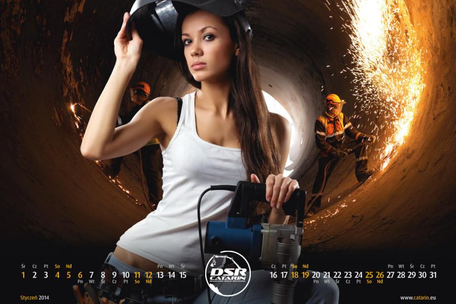 Styczeń - Kalendarz reklamowy DSR-CATARIN