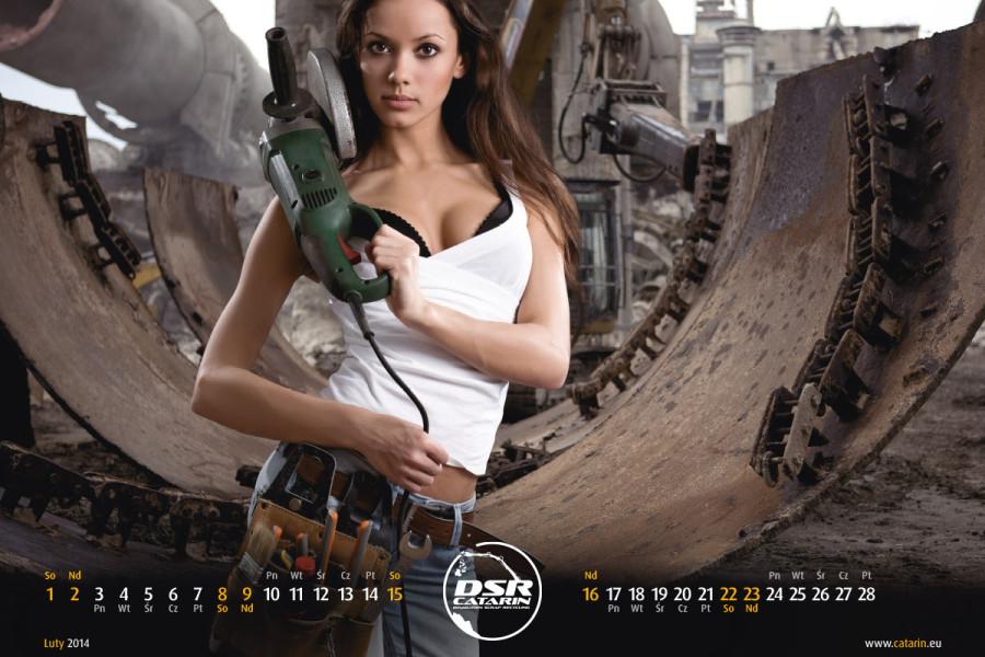 Luty - Kalendarz reklamowy DSR-CATARIN