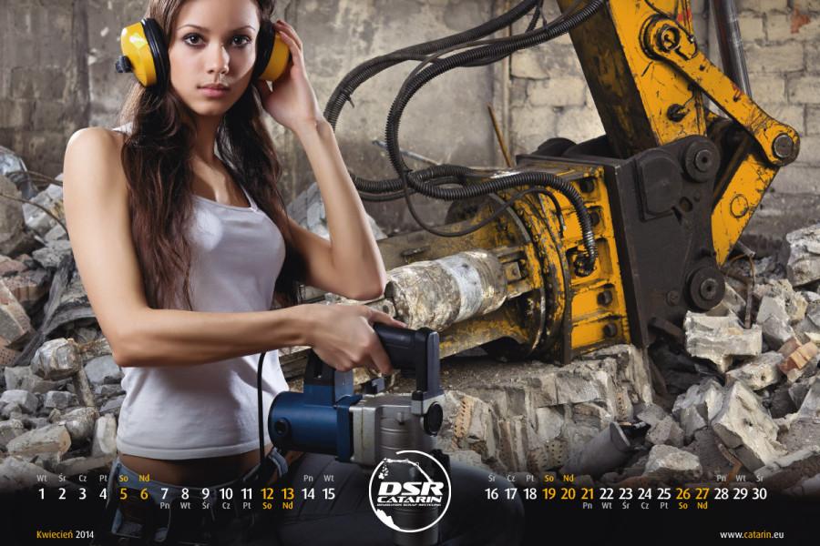 Kwiecień - Kalendarz reklamowy DSR-CATARIN