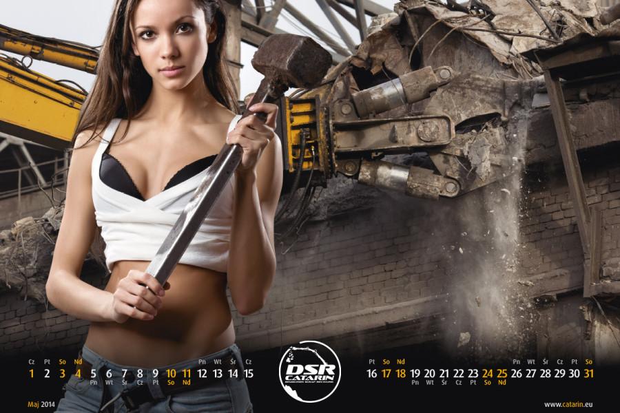 Maj - Kalendarz reklamowy DSR-CATARIN