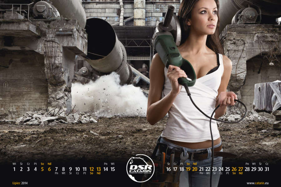 Lipiec - Kalendarz reklamowy DSR-CATARIN