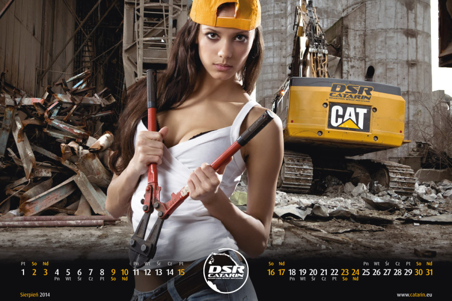 Sierpień - Kalendarz reklamowy DSR-CATARIN