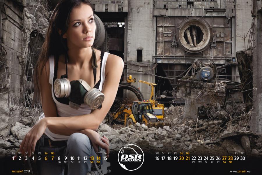 Wrzesień - Kalendarz reklamowy DSR-CATARIN