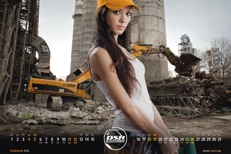 Październik - Kalendarz reklamowy DSR-CATARIN