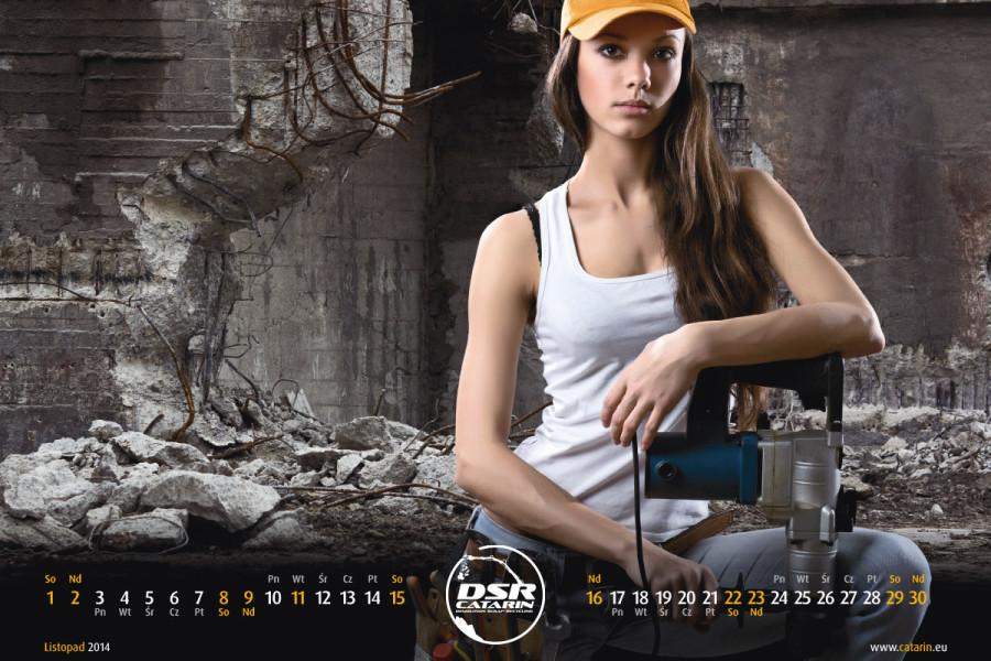 Listopad - Kalendarz reklamowy DSR-CATARIN