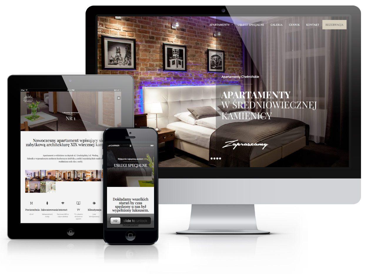 Serwis internetowy Apartamenty Chełmińskie